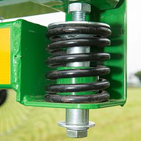 Adjustable down-pressure spring