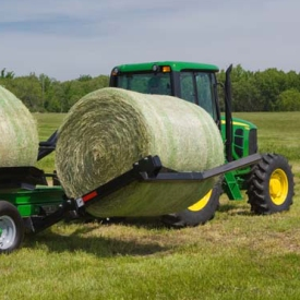 Bale loading arm on the BC1108