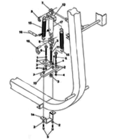 Hydraulic gate control drawing from operator's manual