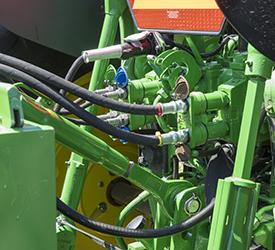 Hydraulics for pump