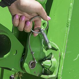 Locking pin for attachment