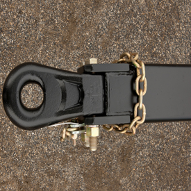 Clevis hitch is built strong for tough jobs
