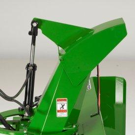 Optional hydraulically controlled chute deflector