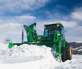 Reduces plugging in heavy snow