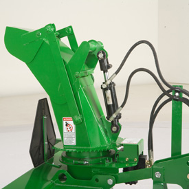 Operator controls deflector angle