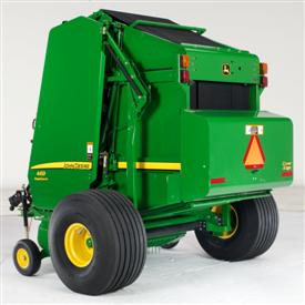 Baler with XL high-flotation tires