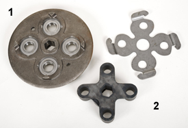 Right-hand spider gears