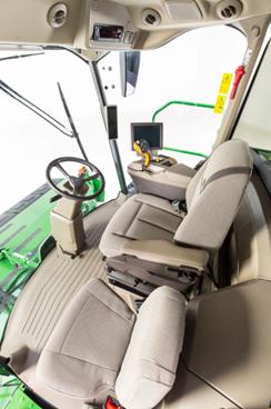 R-spec windrower cab interior