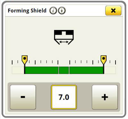 Adjust the forming shield from the display