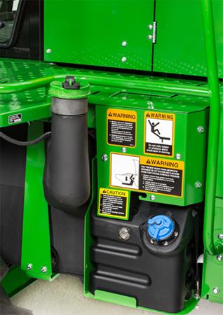 Fuel and diesel exhaust fluid tanks