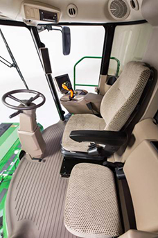 M-spec windrower cab interior