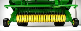 2.2-m (7.2-ft) pickup width to fit the widest windrows