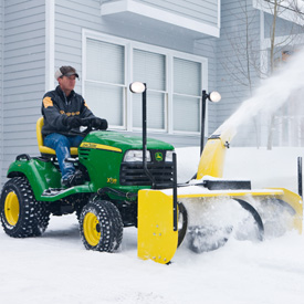 54-in. (137-cm) Snow Blower, optional front light kit shown