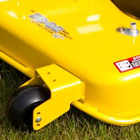 Reinforced mower edge for durability