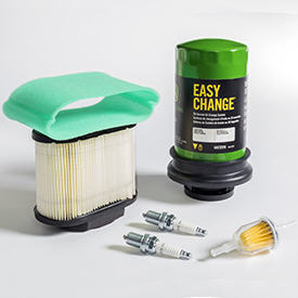Typical home maintenance kit with Easy Change™ 30-second oil change system