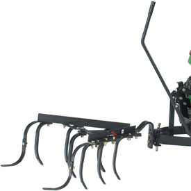 Cultivator mounted to integral hitch