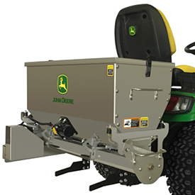 Drop Spreader mounted on Signature Series Tractor