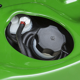 Convenient fuel- filler opening