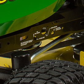 Close-up of lift-assist spring decal