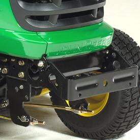 Optional front weight bracket/bumper installed