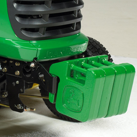 Front weight bracket/bumper with four weights