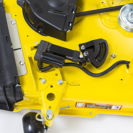 Electric one-touch MulchControl actuator