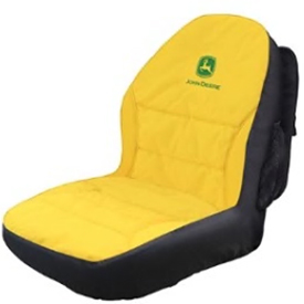 Yellow and black seat cover