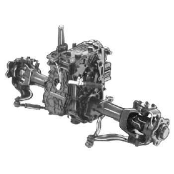 Four-wheel steer hydrostatic transaxle