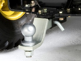 Drawbar shown w/opt. ball and receiver hitch kit