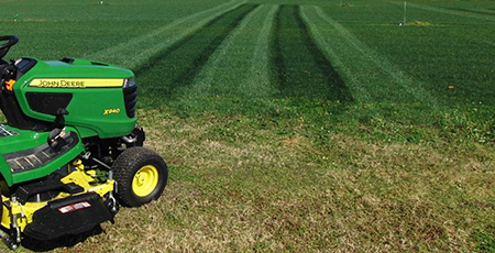 Test plot striping done using roller striping attachment