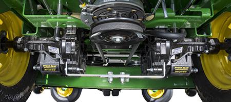Dual Hydro-Gear® transmissions (Z740R shown)