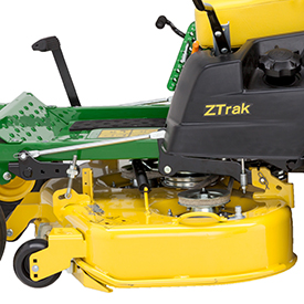 Left side of 48-in. (122-cm) high-capacity mower deck