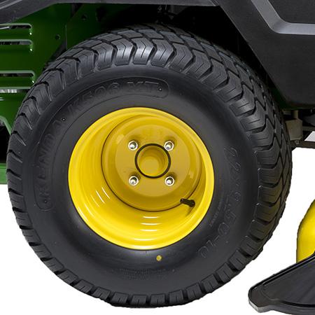 Large diameter rear tire
