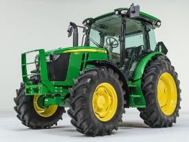 Hood guard for 5M Series Tractors