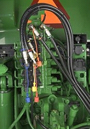Rear hydraulic setup with third-function valve