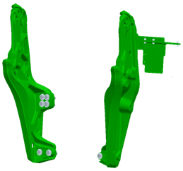 6E Final Tier 4 (FT4) and 6D Interim Tier 4 (IT4) (model year 2013-2015) mounting frame
