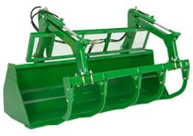 Heavy-duty bucket (shown with grapple)