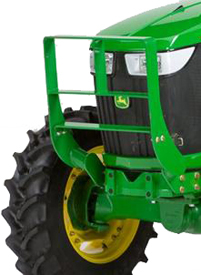 Hood guard for 5E 4-cylinder and 5M Series Tractors
