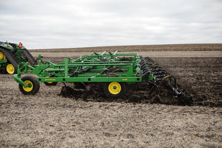 Radial tires on the chisel plow