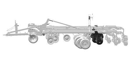 Adjustable rear gang