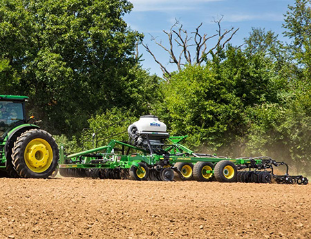 MonTag cover crop seeder on the 2660VT