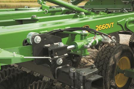Gang angle adjustment on the 2660VT