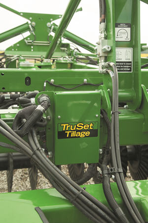 Adjust depth and down pressure with TruSet Tillage
