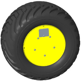 550/45R22.5 wheel cover