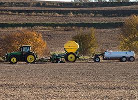Fall application in soybean stubble