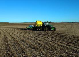 Field finish in soybean stubble