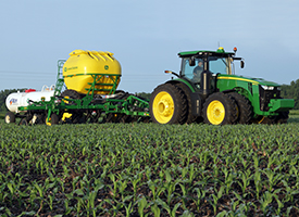 Side-dress in conventional corn ground