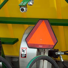 Slow-moving vehicle sign
