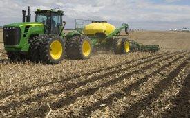 Strips in corn stubble