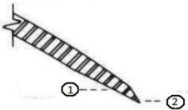 Number 10 edge (inside bevel, outside grind)